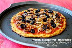 A no-cheese vegan Cauliflower Pizza Crust | Hungry Healthy Girl