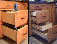 Pull Out Drawers For Kitchen Cabinets Pre Made Pull Out Drawer Box Udb 14s For Suspended