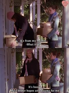 I thought she discarded those years ago... Gilmore Girls