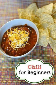 You can learn how to make Chili for beginners.  This is so easy to make, and tastes so good.