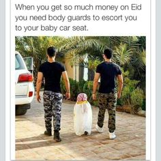 Eid Eidi money gifts bodyguards