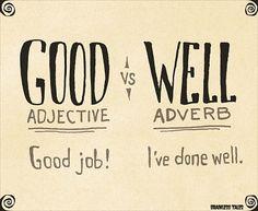 """Diferencias entre """"Good"""" y """"Well."""""""