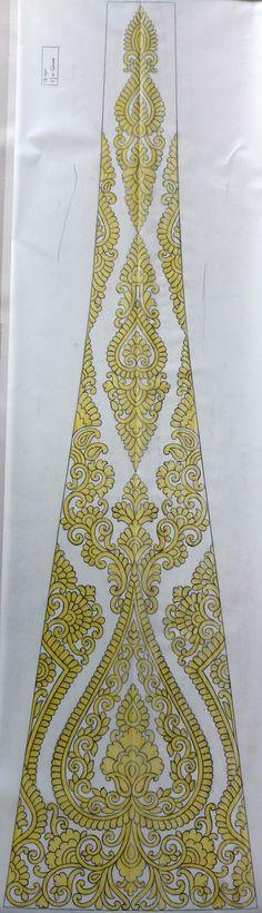 New Embroidery Lehenga koli Pattern Paper, Pattern Art, Embroidery Art, Embroidery Patterns, Lehenga Designs, Rangoli Designs, Blouse Designs, Needlepoint, Bohemian Rug