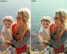 before + after photo using A Beautiful Mess photoshop actions via Casey Leigh.