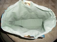 Diaper bag carryall tote bag large turquoise brown by Sewlemio, $35.00