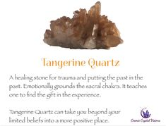 Crystals And Gemstones, Stones And Crystals, Crystal Identification, Tangerine Quartz, Quartz Cluster, Quartz Crystal, Crystal Healing Stones, Crystal Meanings, Rocks And Minerals