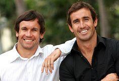 Matty & Andrew Johns - Newcastle Knights legendary brothers.