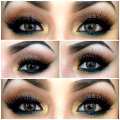 Emerald and gold #smokeeye @Bloom.com