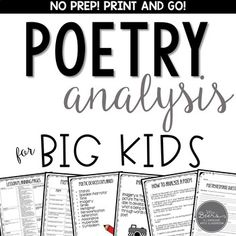 This is the perfect resource to EXCITE your middle school students about poetry analysis! 7th Grade Writing, 6th Grade Ela, 6th Grade Reading, Middle School Reading, Middle School English, Middle School Classroom, Teaching Poetry, Teaching Writing, Writing Rubrics