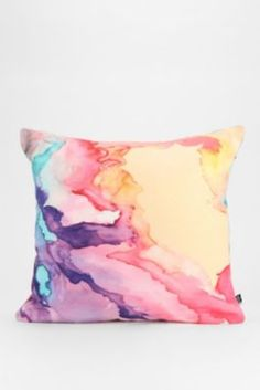 Rosie Brown For DENY Color My World Pillow #pillow #homedecor #urbanoutfitter #denydesigns #art #watercolor #throwpillow