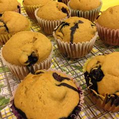 Vegan Blueberry Muffins #Recipe - perfect for Sunday brunch!  From TheVeganWifey.com #theveganwifey