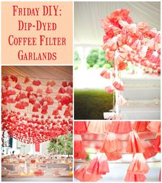 Coffee filter garland DIY