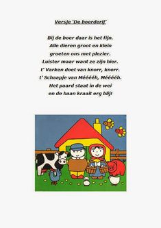 De Kikkerklas: Thema Boerderij Farm Crafts, Too Cool For School, Joanns Fabric And Crafts, Outdoor Fabric, Fabric Decor, Craft Stores, Words, Montessori, Animaux