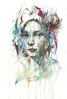 New Ink, Tea and Alcohol Portraits by Carne Griffiths - My Modern Metropolis