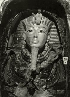 Innermost Coffin of Tutankhamun, 1926, by Harry Burton  In 1914, Harry Burton was hired as a member of the graphic section, initially to photograph tomb interiors and later to record the work of the Museum's excavation team. Burton rapidly gained a reputation as the finest archaeological photographer of his time.