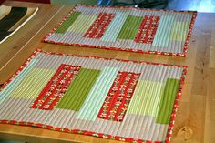 More cute and easy quilted placemats