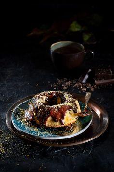 TARTA DE PLÁTANO Panna Cotta, Waffles, Breakfast, Ethnic Recipes, Food, Pies, Morning Coffee, Dulce De Leche, Essen