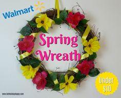 DIY Walmart Spring Wreath for under $10!