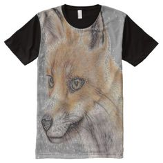 Fox Full Print Tshirt - tap, personalize, buy right now! Unique Art, Shirt Style, Cool Stuff, Stuff To Buy, Your Style, Shirt Designs, Fox, Tee Shirts, Mens Tops