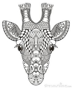 giraffe coloring page colorpagesforadults adultcoloringpages