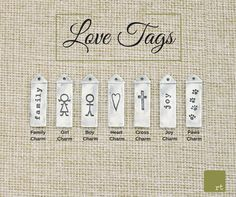 Choose from a variety of tags to best represent the people and things that are dearest to your heart. #Jewelry #variety #Giftidea