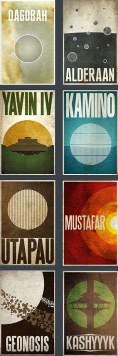 Nice graphic posters of other Star Wars planets