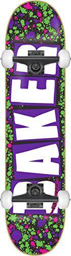 Best price Baker Brand Logo Splatter Skateboard - 8.25 Purple w/Mini Logos - http://kcmquickreport.com/best-price-baker-brand-logo-splatter-skateboard-8-25-purple-wmini-logos/