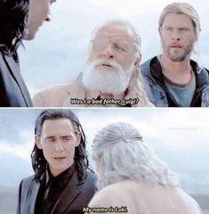 Odin: Luigi Loki: Loki Thor: what? Avengers Humor, Marvel Jokes, Loki Marvel, Funny Marvel Memes, Dc Memes, Memes Humor, Funny Memes, Hilarious, Loki Meme