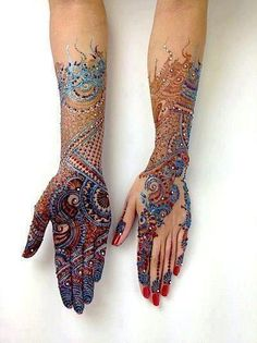 So BREATHTAKING. ... .  Dulhan Bride Indian Pakistani Desi Henna Mehndi