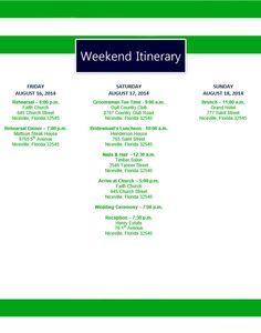 weekend agenda template