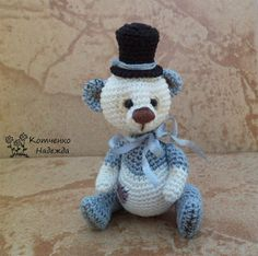 Игрушки Надежды Котченко - Бим и Бом, игрушки крючком, toy, doll crochet, Bear crochet, crochet miniature, doll by Nadya Kotchenko