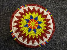 AUTHENTIC NATIVE AMERICAN INDIAN BEADED BELT BUCKLE