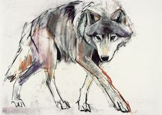 Large Solid-Faced Canvas Print Wall Art Print entitled Wolf