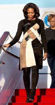 Who: Michelle Obama What: Derek LamWhere: Beijing Capital International AirportWhen: March 20, 2014