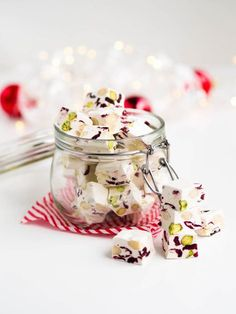 Ihana Ranskalainen Joulu-Nougat Homemade Candies, Homemade Gifts, Christmas Treats, Christmas Baking, Sweet Little Things, Cooking Cake, Brunch, Most Delicious Recipe, Just Eat It