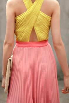 accordion pleats and great colour combo