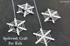 Halloween Crafts for Kids: Craft Stick Spiderwebs