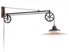 Original Swing Arm Dental Pulley With Large Milk Glass Lamp | From a unique collection of antique and modern wall lights and sconces at https://www.1stdibs.com/furniture/lighting/sconces-wall-lights/