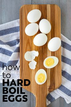 Learn how to make hard boiled eggs in just a few simple steps. Get those perfectly firm whites and creamy yellow centers every time you boil eggs! Making Hard Boiled Eggs, Perfect Hard Boiled Eggs, Perfect Eggs, Easter Deviled Eggs, Hoppy Easter, Healthy Toddler Meals, Toddler Food, Candida Diet Recipes, Advocare Recipes