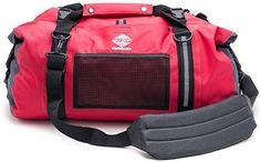 Aqua Quest White Water Duffel - 100% Waterproof Dry Bag Duffel Bag - 50 L, Lightweight, Durable, Comfortable, Versatile - Red
