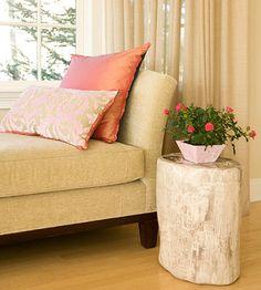 solid pink satin pillow
