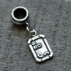 Smart Phone Cell Dangle Charm Bead - Pandora Compatible