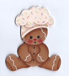 The Decorative Painting Store: Baby Ginger Chef Pattern, Pamela House Gingerbread Ornaments, Gingerbread Decorations, Christmas Gingerbread, Christmas Wood, Christmas Crafts, Christmas Decorations, Christmas Ornaments, Christmas Holidays, Arts And Crafts
