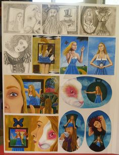 board NCEA Painting folio by on DeviantArt Level 3, Boards, Deviantart, Painting, Planks, Painting Art, Paintings, Painted Canvas, Drawings