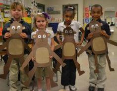 Monkeying Around With Zoo Activities - Preschool Theme: Wild Animals - Rainforest Project, Rainforest Theme, Zoo Activities Preschool, Animal Activities, Zoo Crafts, Monkey Crafts, Zoo Animals, Animals For Kids, Wild Animals