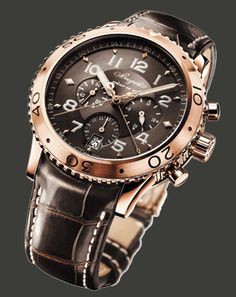 Breguet Type XXI 3810BR/92/9ZU fly-back chronograph in 18-carat rose gold with elapsed-minutes register by a centre hand.