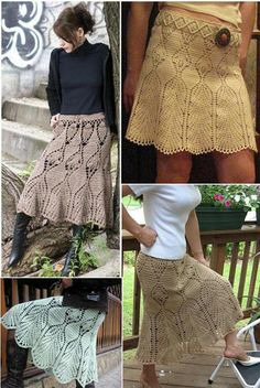 Crochet skirts ♥LCS-MRS♥ with diagrams----Patrones Crochet: Faldas con Dibujos a Crochet Patron