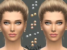 The Sims Resource: Metal balls stud earrings set by NataliS • Sims 4 Downloads