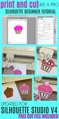 Beginner Silhouette Print and Cut Tutorial for V4 (Free Silhouette Design File) - Silhouette School