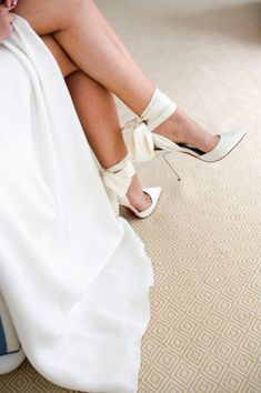 Our first look in my Sarah Seven Sullivan gown and Christian Louboutin Douce du Desert ankle tie pumps. Converse Wedding Shoes, Wedge Wedding Shoes, Wedding Shoes Bride, Bride Shoes, Wedding Shoes Louboutin, Best Wedding Shoes, Best Bridal Shoes, Dream Wedding, Red Louboutin